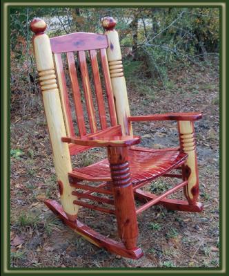 Big Ben Cedar Rocking Chair   Porch Swings   Patio Swings   Outdoor Swings