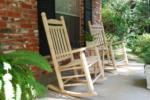 Genial This SET Of JUMBO Oak Rocking Chairs ...