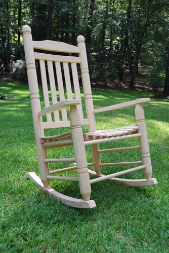 Double Back Oak Rocking Chair   Porch Swings   Patio Swings   Outdoor Swings