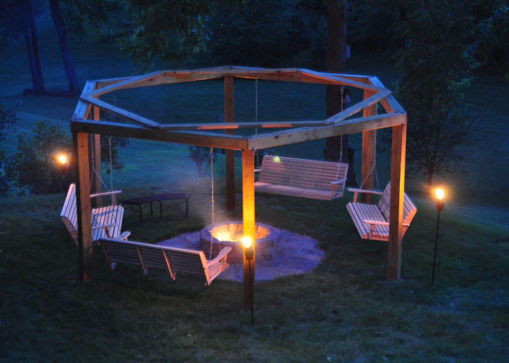 Porch Swings Fire Pit Circle Porch Swings Patio Swings