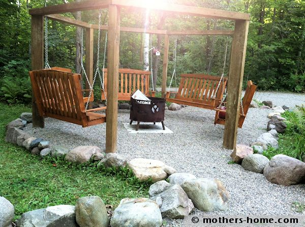 how to make a pergola of porch swings