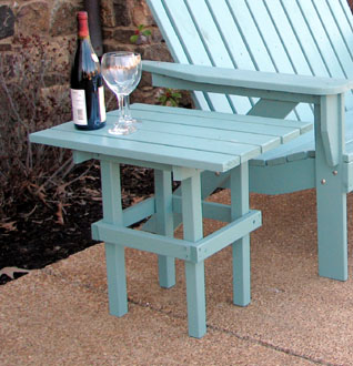 Table Height Sits Just Below The Armrests On Our Adirondack Chairs And  Loveseats. Rugged Construction Featuring 13/16u201d Select Cypress, 1/8u201d  Rounded Edges, ...