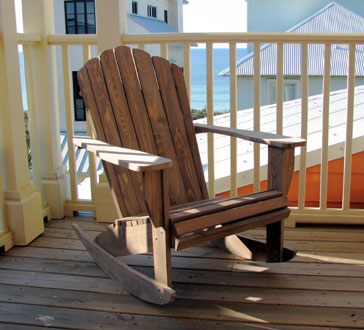 This Comfortable Cypress Rocking Chair Is Designed Just Like Our South  Walton Adirondack Chair, But With Rockers! Inspired By The Quaint And  Charming ...