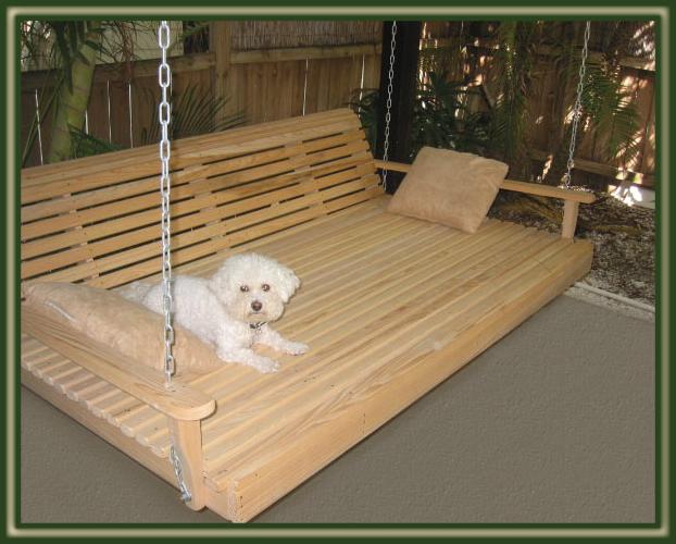 Swing beds porch swings patio swings outdoor swings for Swing bed plans