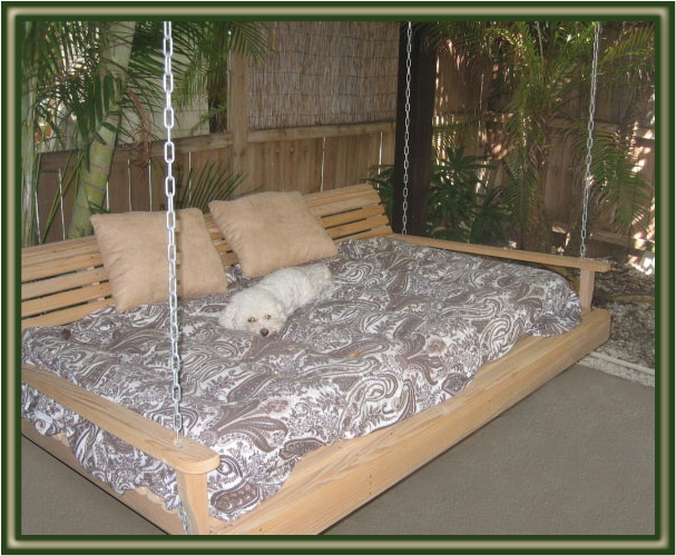 Swing beds porch bed on pinterest swing beds patio for Diy patio bed