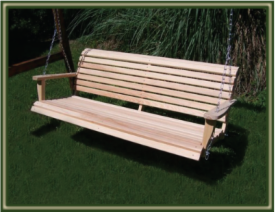 Genial All Of Our Swings Are Constructed Of Heavy Duty Cypress And Rust Proof  Hardware. In Addition, Each Slat Is Finish Sanded On All Sides And Ends For  Your ...