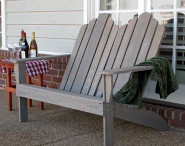 Classic Adirondack Chair Loveseat   Porch Swings   Patio Swings   Outdoor  Swings