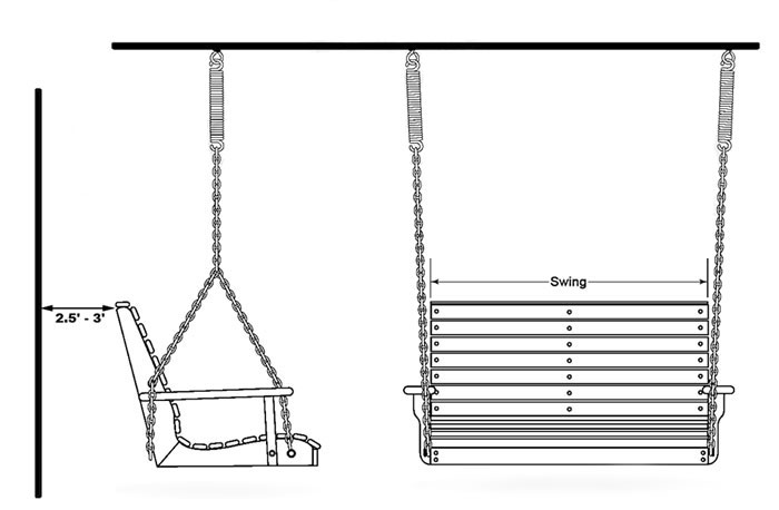 How To Install A Porch Swing Porch Swings Patio Swings Outdoor Swings